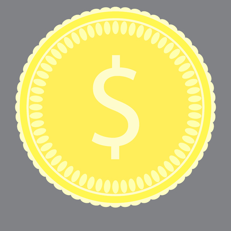 pound coin: Coin gold money. Coin icon and gold coins, pound coin and metal money, finance gold coin and treasure rich. Vector flat design illustration Illustration