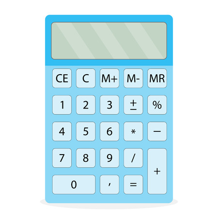 electronic device: Device calculator isolated. Calculator icon and calculator isolated, calculate finance, digital abacus and accounting money, finance device and electronic equipment. Vector flat design illustration