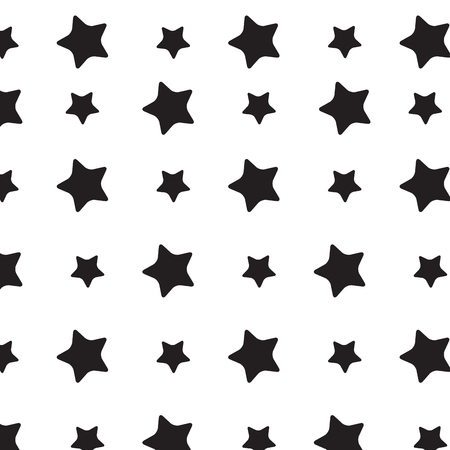 star pattern: Stars sky black white pattern. Stars background and starburst,  stars sky space, star pattern festive, repetition monochrome star.  Vector flat design illustration