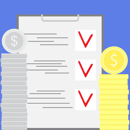 budgeting: Accounting for financial budgeting. Financial business accounting and finance management and economy. Vector flat design illustration
