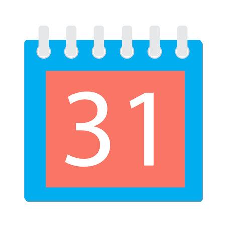 detachable: Calendar page icon. Event detachable page calendar design, plan organizer. Vector flat design illustration Illustration