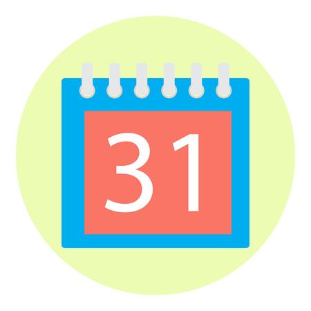 calendar isolated: Icon color calendar isolated. Object day calendar, reminder calendar and isolated page calendar. Vector flat design illustration
