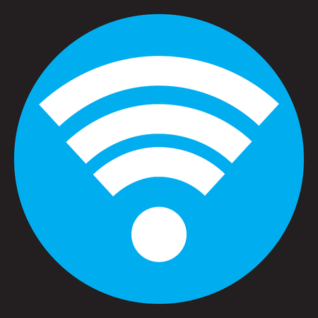wireless communication: Wifi icon flat design. Internet signal mobile web, technology wireless communication. Vector flat design illustration