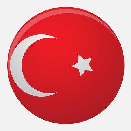 Turquie flag icon plat. Flag illustration de dinde et isolé symbole vecteur turc national