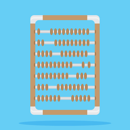 abacus: Retro vintage abacus. Calculator for counting, abacus isolated, vector illustration