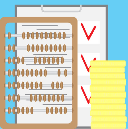 tax accountant: Counting finance. Accounting and account. Accountant finance, bookkeeping and tax, audit and money, vector illustration
