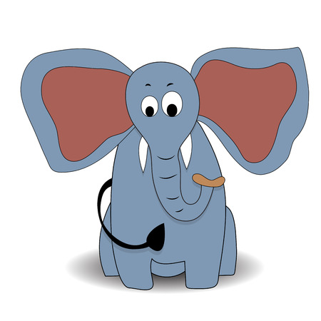 Cartoon character elephant. Elephant cartoon animals, elephant vector illustration