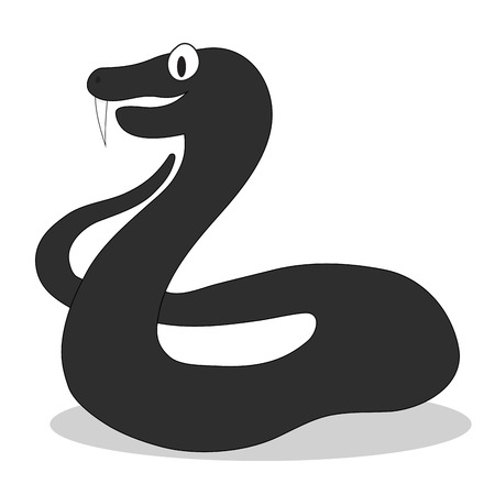 Viper character dark illustration. Snake cobra vector, viper snake isolated