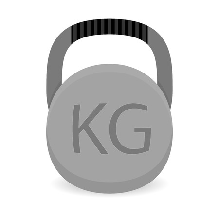 heavy weight: Weight icon vector. Heavy weight iron for power gym illustration Illustration