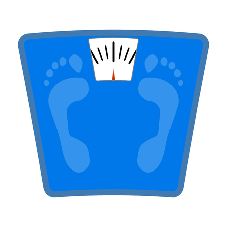 bathroom weight scale: Scale icon flat. Weight loss and balance scale, bathroom scale vector, illustration of weighing scales Illustration