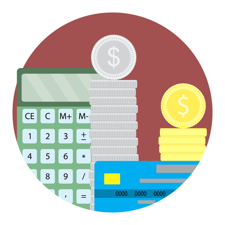 Count money capital icon vector. Finance investment and currency deposit illustration