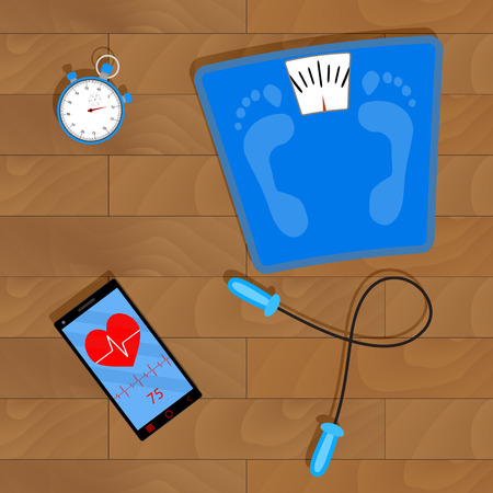 Training for Weight Loss. Иллюстрация