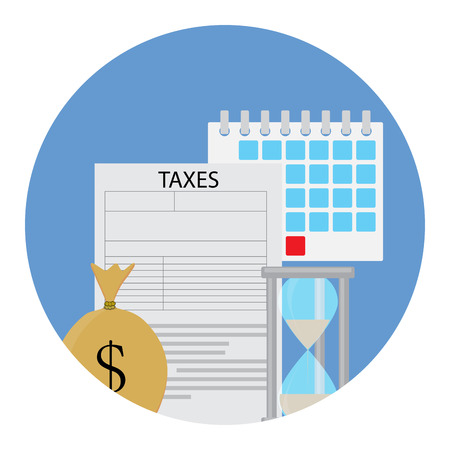 Tax icon concept. Money for government, vector illustration