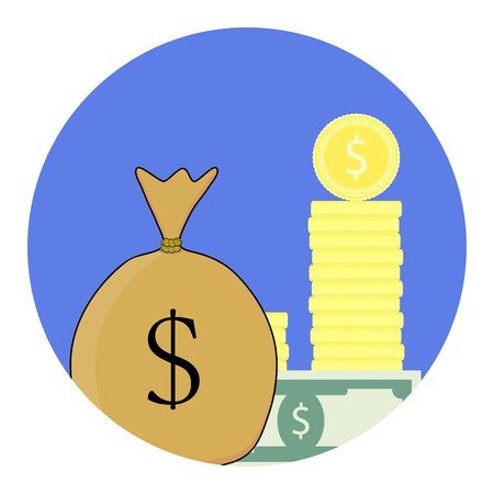 refinancing: Finance vector icon. Invest and refinancing, financial banking budget stack illustration