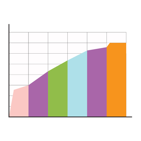 infomation: Info chart layers. Economic annual infomation about marketing, vector illustration Illustration