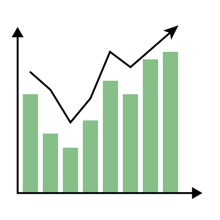 Growth Color Chart Graphic Infochart Analysis Statistic Report