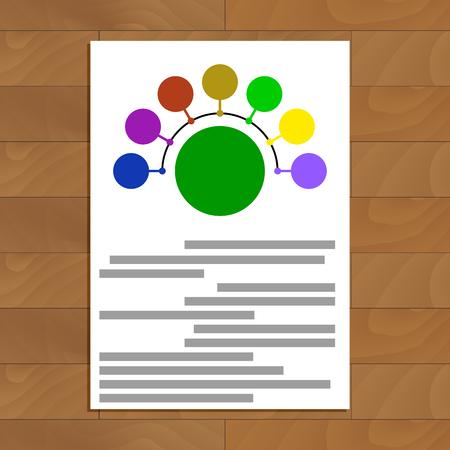 infomation: Round scheme document. Connect colored round. Vector illustration Illustration