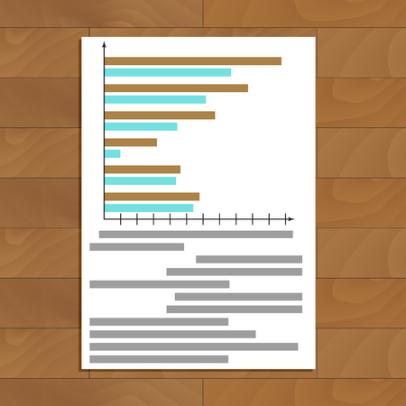 infomation: Chart and graphic. Infograph and infochart on paper. Vector illustration