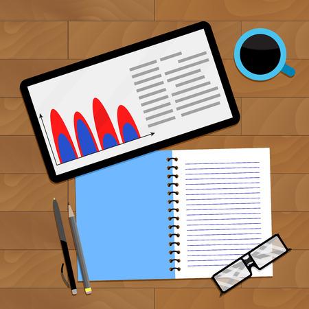 infochart: Finance accounting infochart, vector financial infochart profit illustration