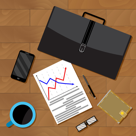 Economist jobs data analysis. Data analysis and research data for business analysis, vector illustration