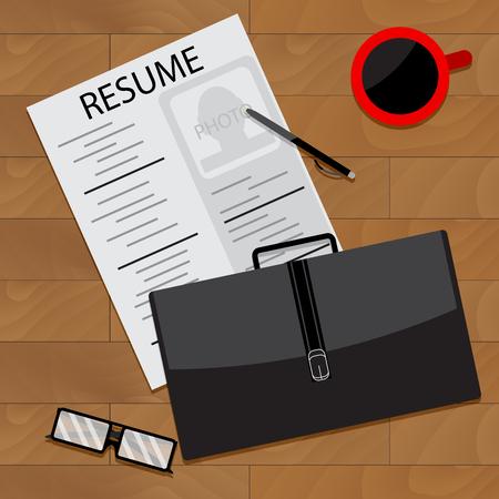 prepare: Prepare for interview. Vector interview preparation, illustration of research interview