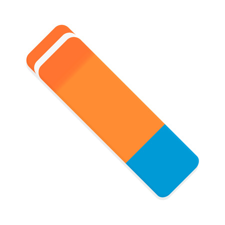 Eraser vector isolated. Rubber and pencil eraser, illustration of eraser for pencil