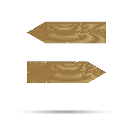 Straight arrow points in different directions. Arrow point left and arrow right board. Vector illustration Ilustração