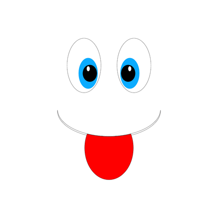 Vector smiley cartoon emoticon face illustration.