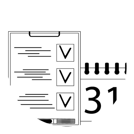 Planning icon app. Vector calendar and management business illustration