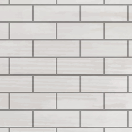 Brick wall white texture. Vector pattern brick wall, background surface construction illustration