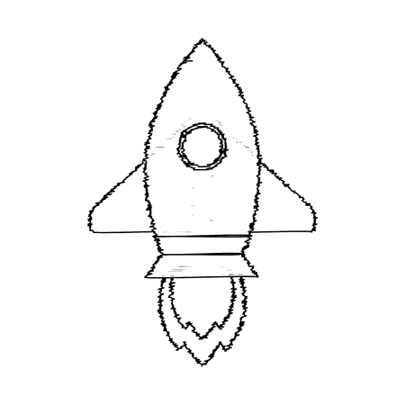 Rocket sketch start up. Vector rocket sketchy, sketch launch up idea illustration