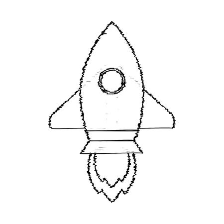 Rocket sketch start up. Vector rocket sketchy, sketch launch up idea illustration