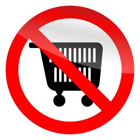 No shopping symbol