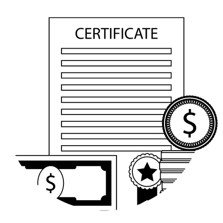 Scholarship in university icon. Vector finance graduation certificate illustration Vectores