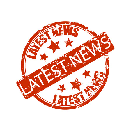 Latest news rubber stamp isolated on white. Icone news, vector latest news icon, latestnews illustration Stock Illustratie