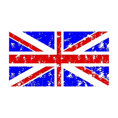 Rubber stamp flag united kingdom. Flag country uk, national emblem seal stamp, vector illustration