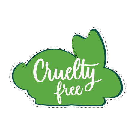 Cruelty free mark icon. Vector symbol product made without cruelty. Eco-friendly and biodegradable. Illustration natural growth  イラスト・ベクター素材