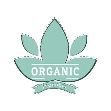 Mark label for vegetarian food, badge stamp green, diet nutrition eco-friendly, sticker fot organic. Vector illustration  イラスト・ベクター素材