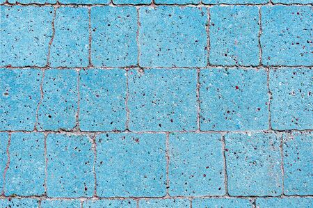 Blue road tile in a city park. View from above. Background Stok Fotoğraf