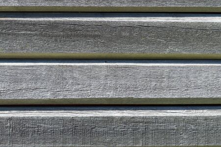 Wooden old gray horizontal boards. Abstract background. Front view
