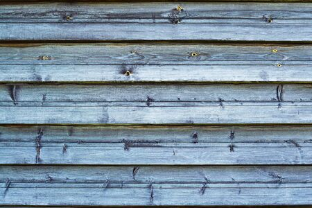 Wooden blue old horizontal boards. Abstract background. Front view