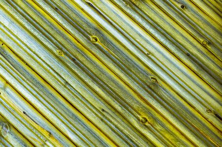 Wooden yellow boards. Abstract background. Front view