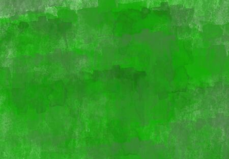 Abstract green textural background with dark green elements. Watercolor design