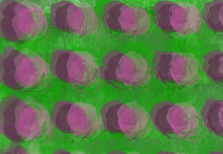 Abstract gray textural background with pink and burgundy round elements. Watercolor design