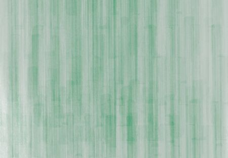 Abstract gray textural background with green stripes vertical elements. Watercolor design
