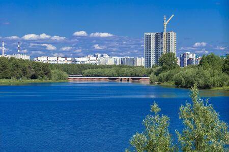 Saima River Embankment, Surgut, Russia - August 20, 2019