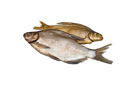 Two fish bream, one dried salted, the other salted, cold smoked. Isolate