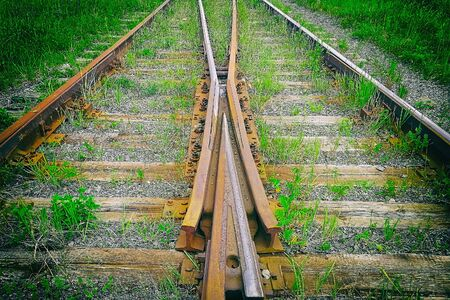 Fork of the railway. Siberia