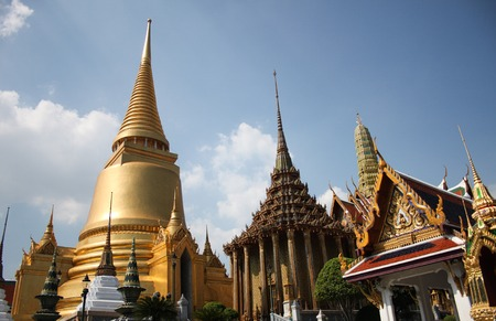 Historical buildings in Grand Palace Bangkok, Thailand