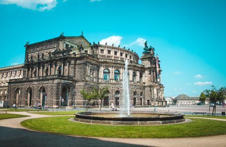 German landmark in Dresden, cultural center photo